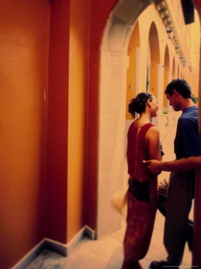 Spanish Couple Outside of Hotel Muncey, Tenerife, Canary Islands, Spain-Stuart Westmoreland-Photographic Print