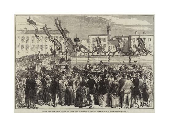 Spanish Deputation Passing Through the Lungh' Arno--Giclee Print