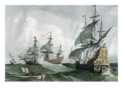 Spanish Galleons and Vessels (17th C)--Art Print