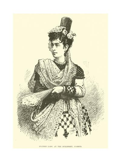 Spanish Lady at the Bullfight, Madrid--Giclee Print