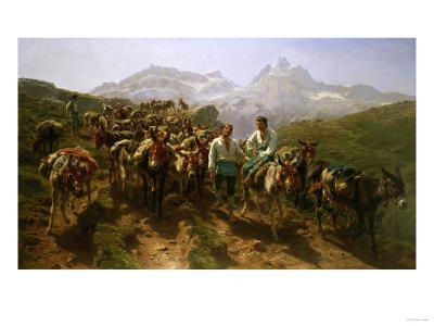 Spanish Muleteers Crossing the Pyrenees, 1857-Henry Thomas Alken-Giclee Print