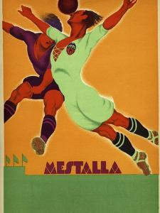 Advertisement for a Match Between Valencia and an English Team at the Mesta by Spanish School