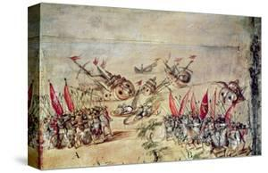 Cortes Sinking His Fleet Off the Coast of Mexico, 1518 by Spanish School
