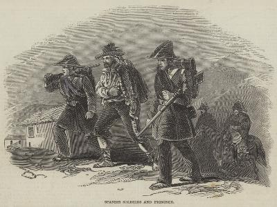 Spanish Soldiers and Prisoner--Giclee Print