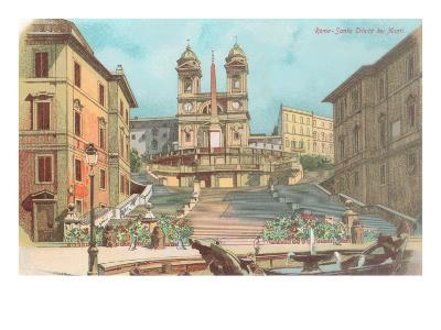 Spanish Steps, Rome--Art Print