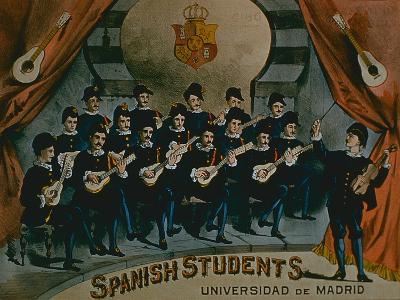 Spanish Students, University of Madrid'-American School-Giclee Print