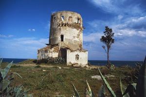 Spanish Tower of Porto Corallo, 17th Century, Villaputzu, Sardinia, Italy