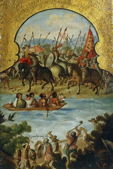 Spanish Troops Arriving in Tenochtitlan in 1520--Giclee Print