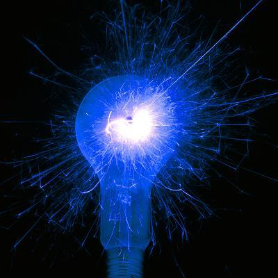Sparking Light Bulb-Victor De Schwanberg-Photographic Print