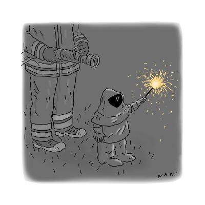 Sparkler Safety - Cartoon-Kim Warp-Premium Giclee Print