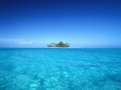 Sparkling Ocean and Tropical Island-Craig Tuttle-Photographic Print