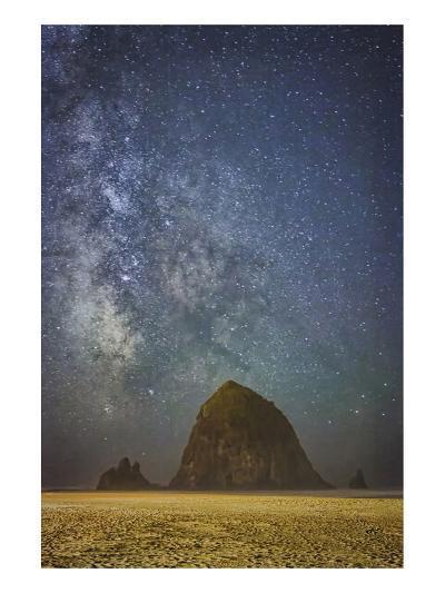 Sparkling Skies Over HaystacK-Don Schwartz-Art Print