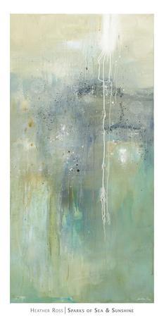 Sparks of Sea & Sunshine-Heather Ross-Art Print