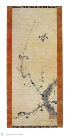 Sparrows and Plum Tree-Kaoo Soozen-Collectable Print