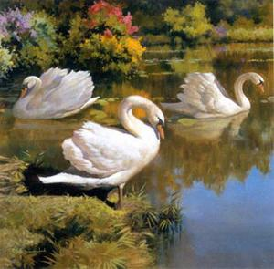 The Swans Family I by Spartaco Lombardo