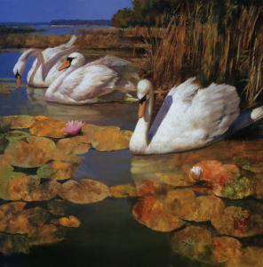 The Swans Family II by Spartaco Lombardo
