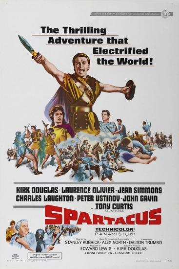 """Spartacus: Rebel Against Rome, 1960 """"Spartacus"""" Directed by Stanley Kubrick--Giclee Print"""