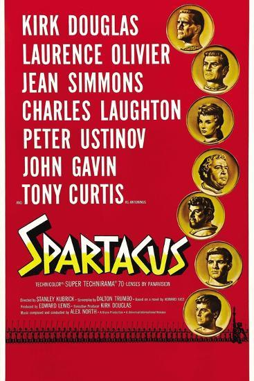 """Spartacus: Rebel Against Rome, 1960, """"Spartacus"""" Directed by Stanley Kubrick--Giclee Print"""