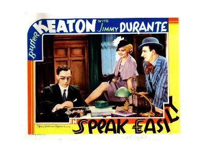 Speak Easily, from Left: Buster Keaton, Thelma Todd, Jimmy Durante, 1932--Giclee Print