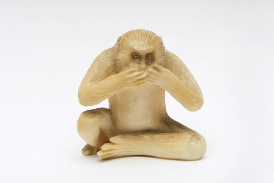 Speak No Evil, One of the Three Wise Monkeys-Japanese School-Giclee Print