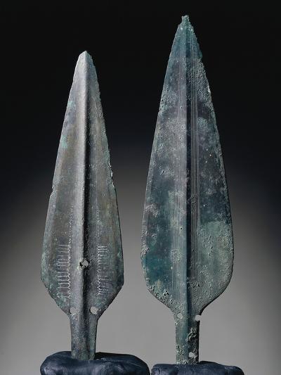 Spearheads, Bronze, Sardinia, Italy, Nuragic Civilization--Giclee Print