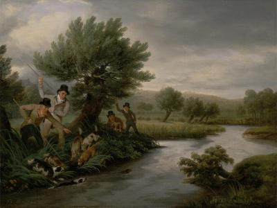 Spearing the Otter, 1805-Philip Reinagle-Giclee Print