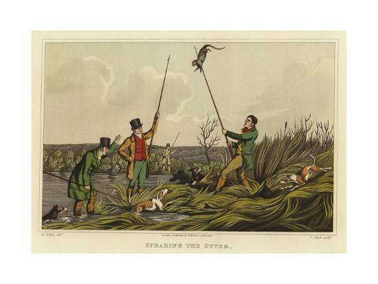 Spearing the Otter-Henry Thomas Alken-Giclee Print
