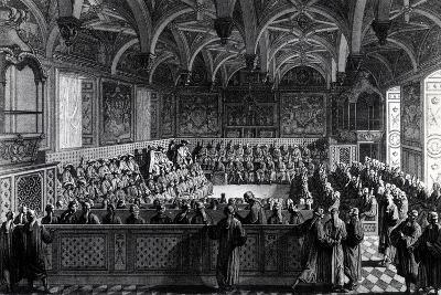 Special Session Held by Louis XVI at Palace of Justice in Paris, November 19, 1787, France--Giclee Print