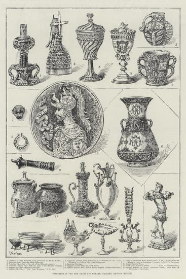 Specimens in the New Glass and Ceramic Gallery, British Museum-Frank Watkins-Giclee Print