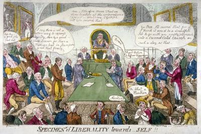 Specimens of Liberality Towards Self!!, 1809-Isaac Cruikshank-Framed Giclee Print