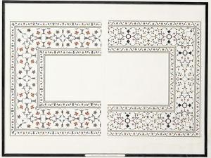 Specimens of the Mosaics, from the Tomb of the Emperor, C. 1815 (Pencil, Pen, Ink, W/C)