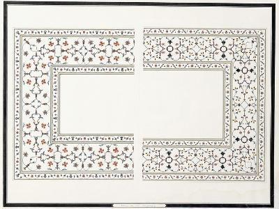 Specimens of the Mosaics, from the Tomb of the Emperor, C. 1815 (Pencil, Pen, Ink, W/C)--Giclee Print