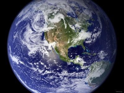 Spectacular Detailed True-Color Image of the Earth Showing the Western Hemisphere-Stocktrek Images-Photographic Print