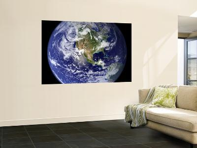 Spectacular Detailed True-Color Image of the Earth Showing the Western Hemisphere--Giant Art Print