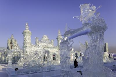 Spectacular Ice Sculptures, Harbin Ice and Snow Festival in Harbin, Heilongjiang Province, China-Gavin Hellier-Photographic Print