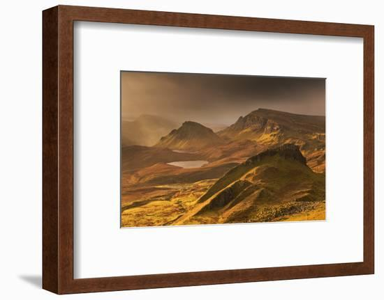 Spectacular Light over the Trotternish Range from the Quiraing in the Isle of Skye, Scotland-Adam Burton-Framed Photographic Print