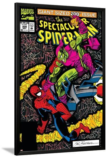 Spectacular Spider-Man No.200 Cover: Spider-Man and Green Goblin-Sal Buscema-Lamina Framed Poster