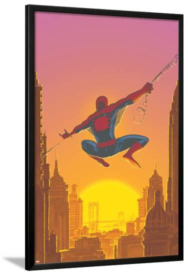 Spectacular Spider-Man No.27 Cover: Spider-Man Swinging-Mark Buckingham-Lamina Framed Poster