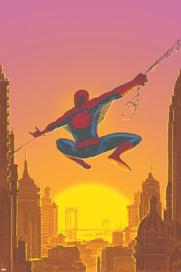 Spectacular Spider-Man No.27 Cover: Spider-Man Swinging-Mark Buckingham-Art Print