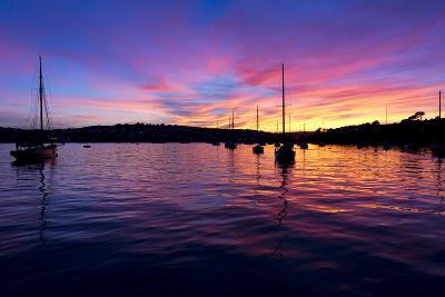 Spectacular Sunset, Falmouth Harbour, Cornwall, England, United Kingdom, Europe-Peter Groenendijk-Photographic Print