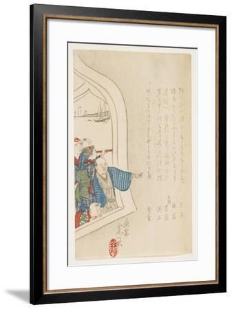 Spectator at a Window, C. 1847-1853-Hanzan Matsukawa-Framed Giclee Print
