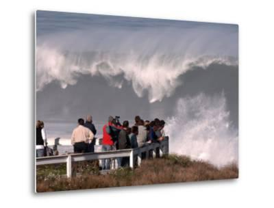 Spectators Line the Bluff at La Jolla Cove to Get a Good Look at the Large Surf in San Diego