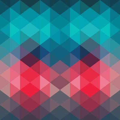 Spectrum Geometric Background Made of Triangles. Retro Hipster Color Spectrum Grunge Background. Sq-Markovka-Art Print