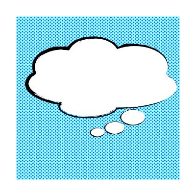 Speech Bubble Pop-Art Style-jirawatp-Art Print