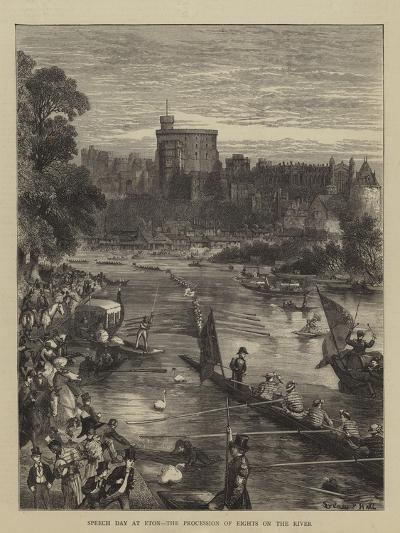 Speech Day at Eton, the Procession of Eights on the River-Sydney Prior Hall-Giclee Print