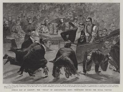 Speech Day at Harrow, the Frogs of Aristophanes Being Performed before the Royal Visitors-Sydney Prior Hall-Giclee Print