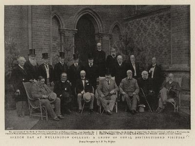 Speech Day at Wellington College, a Group of Royal Distinguished Visitors--Giclee Print