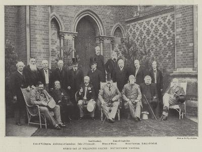 Speech Day at Wellington College, Distinguished Visitors--Giclee Print