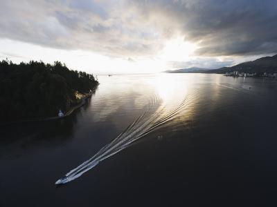 Speed Boat in Burrard Inlet, Vancouver, British Columbia, Canada, North America-Christian Kober-Photographic Print