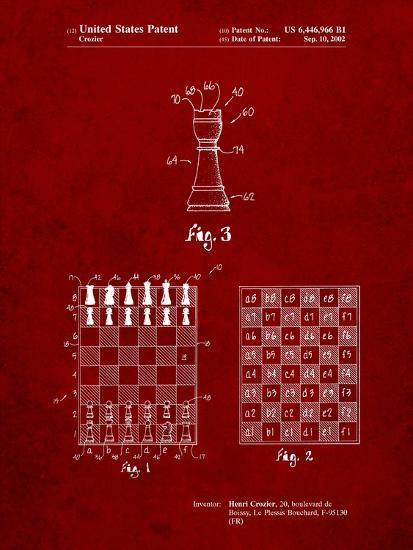 Speed Chess Game Patent-Cole Borders-Art Print